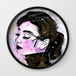 Loose Watercolor & Ink Audrey Wall Clock