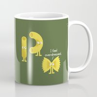 pasta Mugs featuring Pasta Party by David Olenick