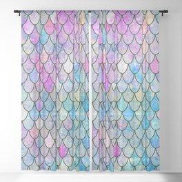 mermaid scales Sheer Curtain