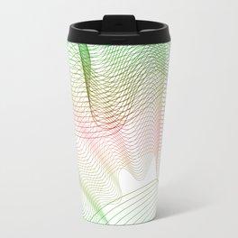 """""""Rainbow lines"""" Geometric minimal Travel Mug"""