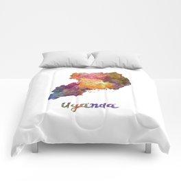 Uganda in watercolor Comforters