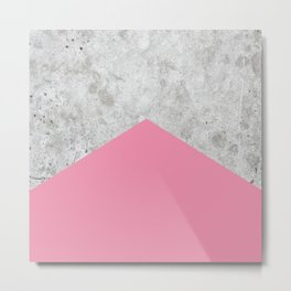 Concrete Arrow Pink #329 Metal Print