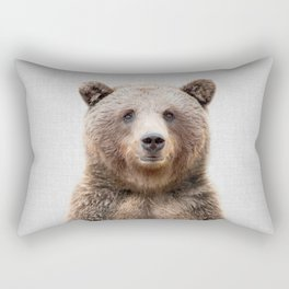 Grizzly Bear - Colorful Rectangular Pillow