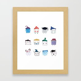 MyHappySquare Collection Framed Art Print