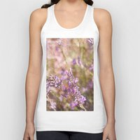 lavender Tank Tops featuring Lavender by Tina Sieben