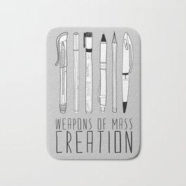 Weapons Of Mass Creation (on grey) Bath Mat