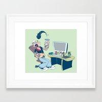 popeye Framed Art Prints featuring Popeye by Kalablu Studio