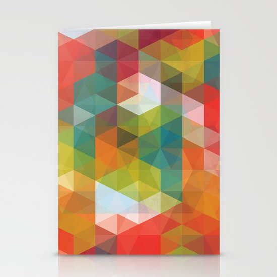 Transparent Cubism Stationery Cards