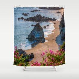 Rocky Oregon Coast Shower Curtain