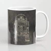 r2d2 Mugs featuring R2D2 by LindseyCowley