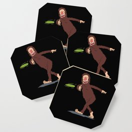 Funny Disc Golfer Gift: Finding Bigfoot Coaster