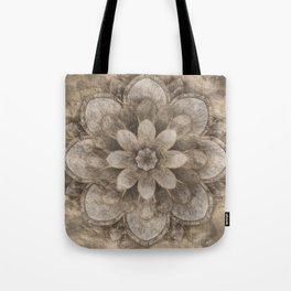 Lotus Mandala - pastel gold Tote Bag