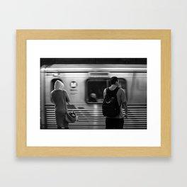 Holly train Framed Art Print
