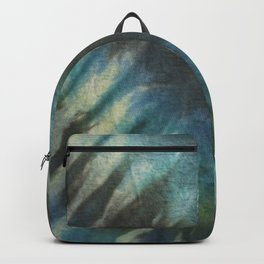 Tie Dye in Blue and Green 13 Backpack