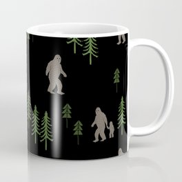Sasquatch forest woodland mythic animal nature pattern cute kids design forest Coffee Mug