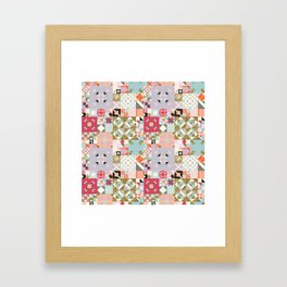 Moroccan Quilt Pattern Framed Art Print