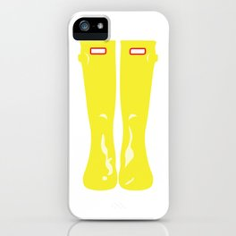 Yellow Rainboots iPhone Case