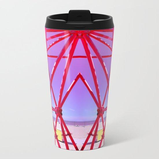 Red Iron Metal Travel Mug