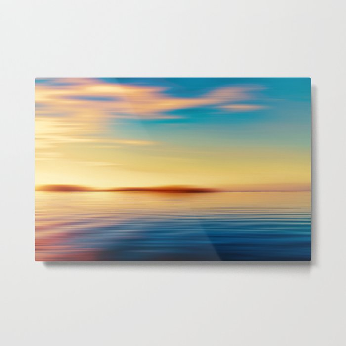 Sunset Seascape Island Metal Print