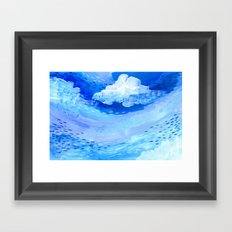 Gulf Stream Blues Framed Art Print
