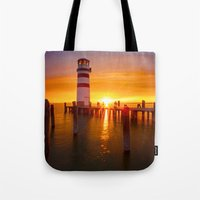 lighthouse Tote Bags featuring lighthouse by Photoplace