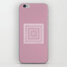 Dusty Rose Drawing Therapy iPhone Skin