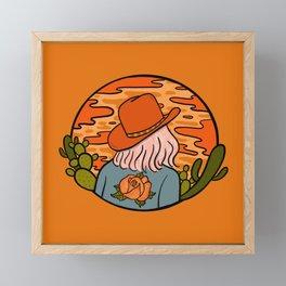 Desert Cowgirl Framed Mini Art Print