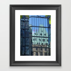 Maple leaf mirror Ottawa Framed Art Print