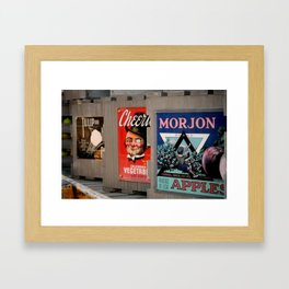 Crates in MGM Framed Art Print