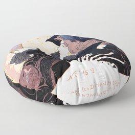 1899 Art nouveau auction journal ad Floor Pillow