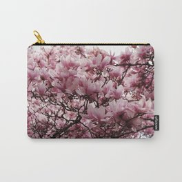 Photograph of Floral Magnolia Blooms in Spring Carry-All Pouch