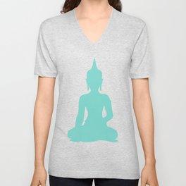 Pastel Mint Buddha Unisex V-Neck