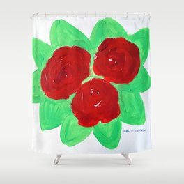Roses VIII Shower Curtain