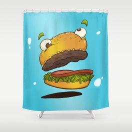 Derp Burger Shower Curtain