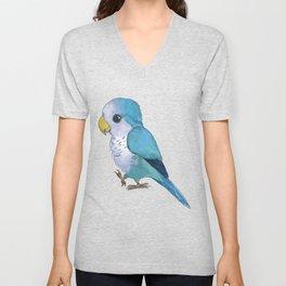 Very cute blue parrot Unisex V-Neck
