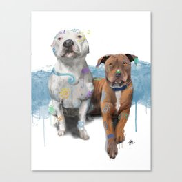 Tengu and Inka Canvas Print