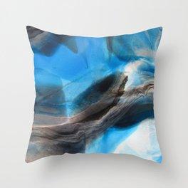 Tourmaline Blue - Original Abstract Painting Throw Pillow