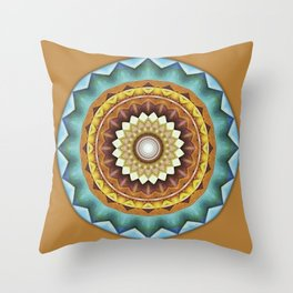 Mandalas from the Heart of Peace 8 Throw Pillow