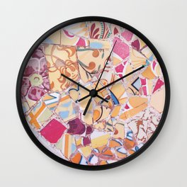 Tiling with pattern 4 Wall Clock