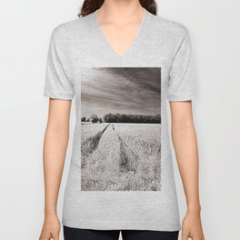 Tracks in the field Unisex V-Neck