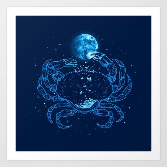 Me Gusta La Luna Llena Art Print