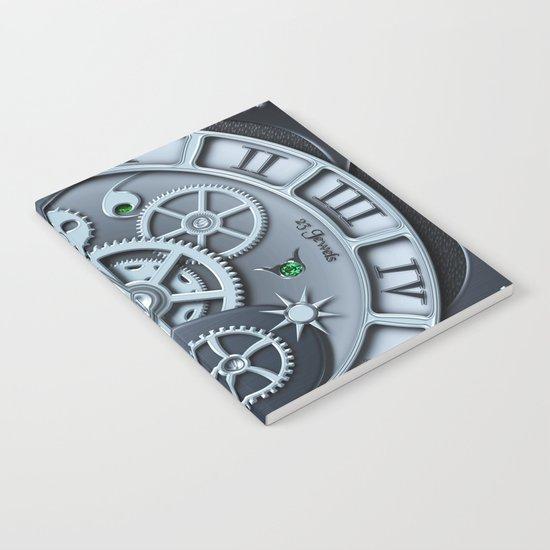 Steampunk clock silver Notebook
