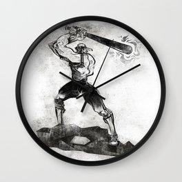 The Designated Slugger  Wall Clock