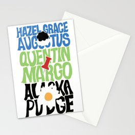 The Fault In Our Stars, Paper Towns and Looking For Alaska Typography Stationery Cards