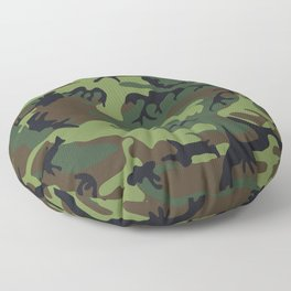 Green Camouflage Floor Pillow