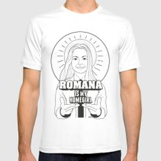 Romana Is My Homegirl SMALL White Mens Fitted Tee