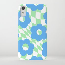 Checkered Floral  iPhone Case