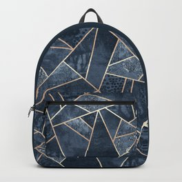 Soft Dark Blue Stone Backpack