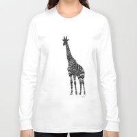 ornate Long Sleeve T-shirts featuring Ornate Giraffe by ZantosDesign