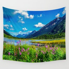 God's Country - Summer in Alaska Wall Tapestry